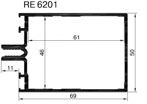 Стойка-ригель 69мм , 6,6м    RAL 9016