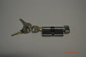 1 Личинка для замка FUARO  60мм (25+10+25)  (ключ/завертка)  золото